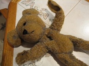 Before repairing the teddy bear.