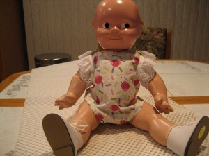 Kewpie doll after dressed up